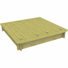 Wooden Sandpit - 2m x 2m – 295mm Height – 44mm Thick Wall - Inc Sand and Heavy Duty Lid